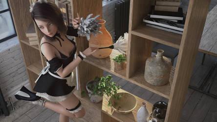 The cute maid