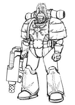 Thunder Warrior Sketches MK1 Power Armour