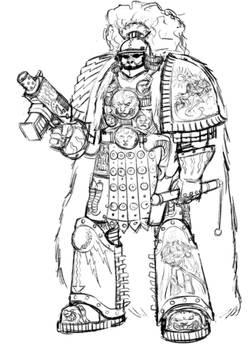 Thunder Warrior Sketches Captain