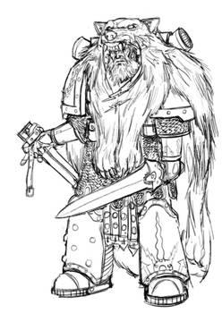 Thunder Warrior Sketches Banner Bearer