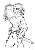 Catachan Carrying Ammo by earltheartist