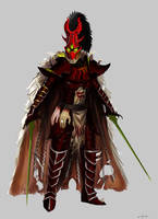 Dark Eldar Archon Commission by earltheartist