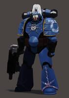 MK1 Adeptus Astartes Ultramarine by earltheartist