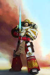 Rholan Marn, Chapter Master of the Exalted Blades by earltheartist