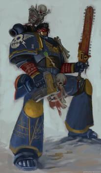 space marine aztec (rainbow warrior)