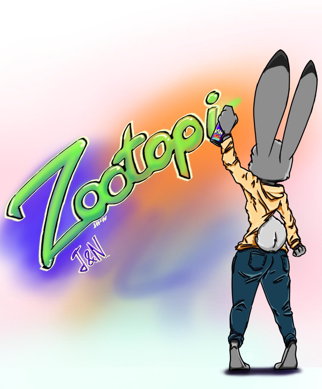 Zootopia Graffiti by JudyHopps44