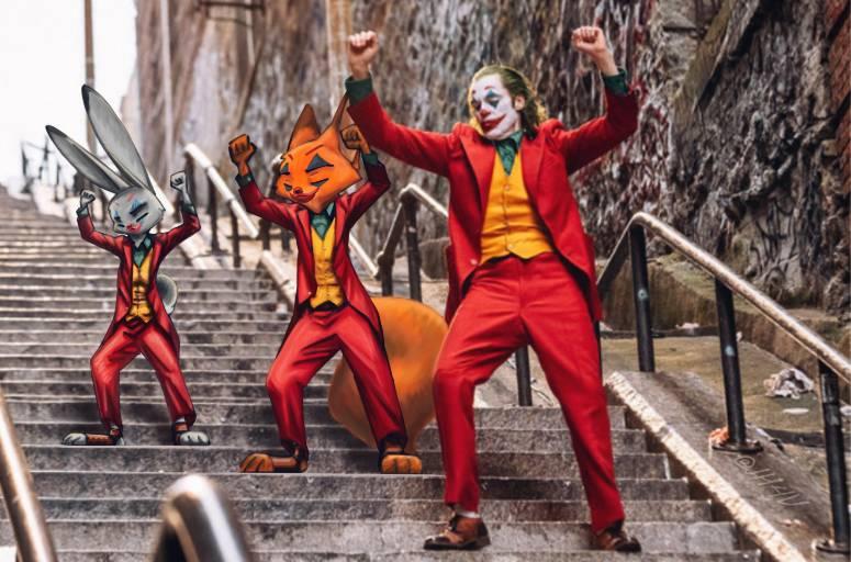 X3 Joker cosplay XDd by JudyHopps44