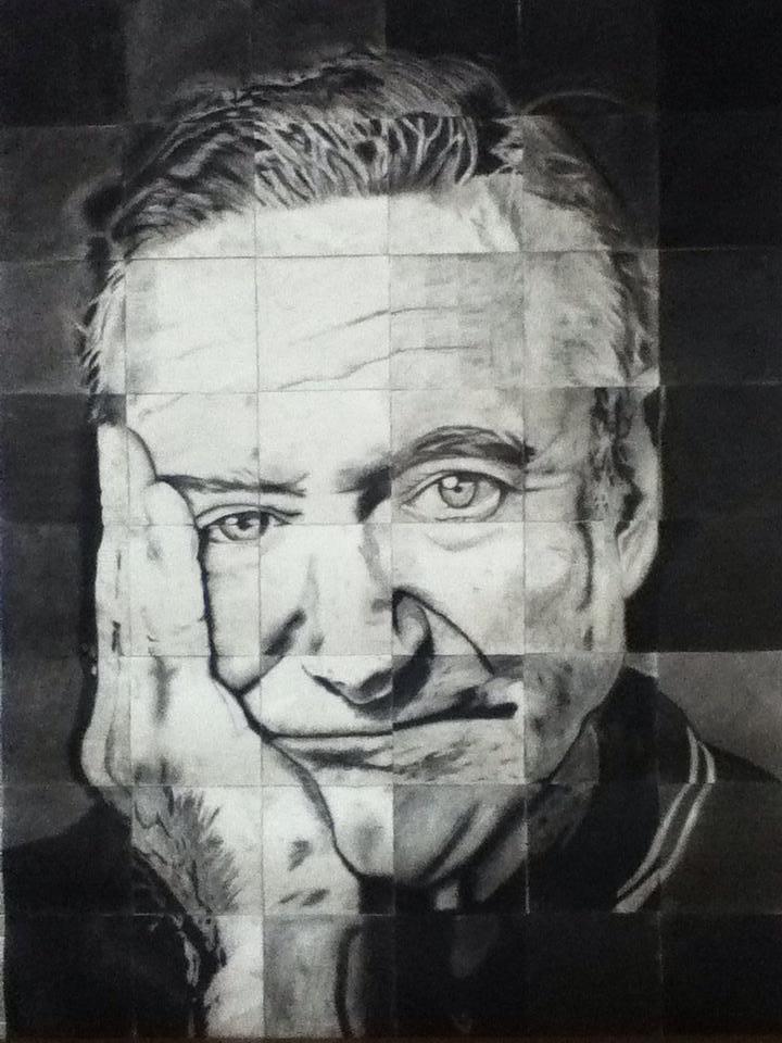 Robin Williams class project by animalgirl314
