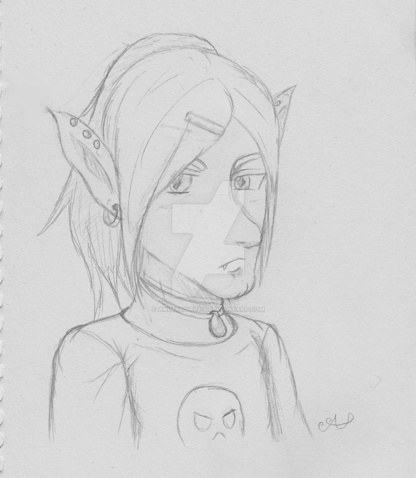 Drawlloween Challenge Day 3 Goblin by animalgirl314