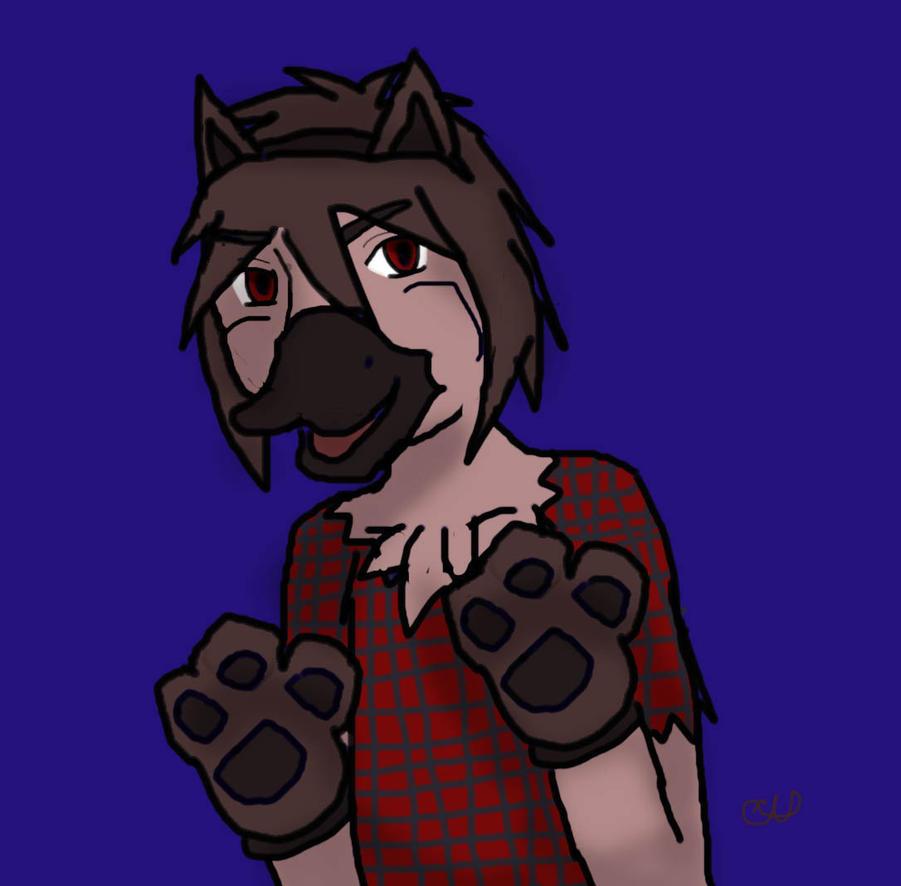 Werewolf duck by animalgirl314