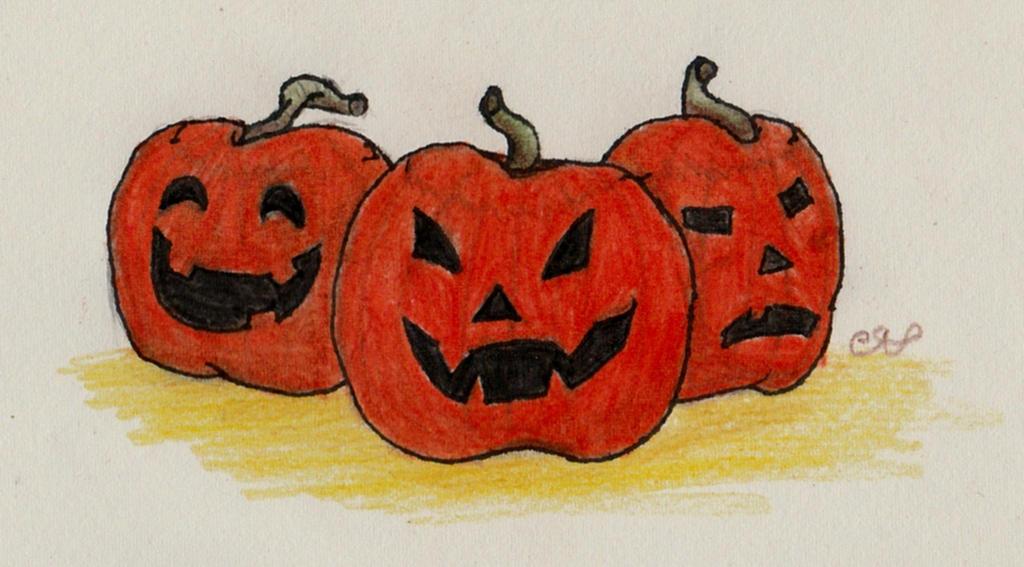 Pumpkins by animalgirl314
