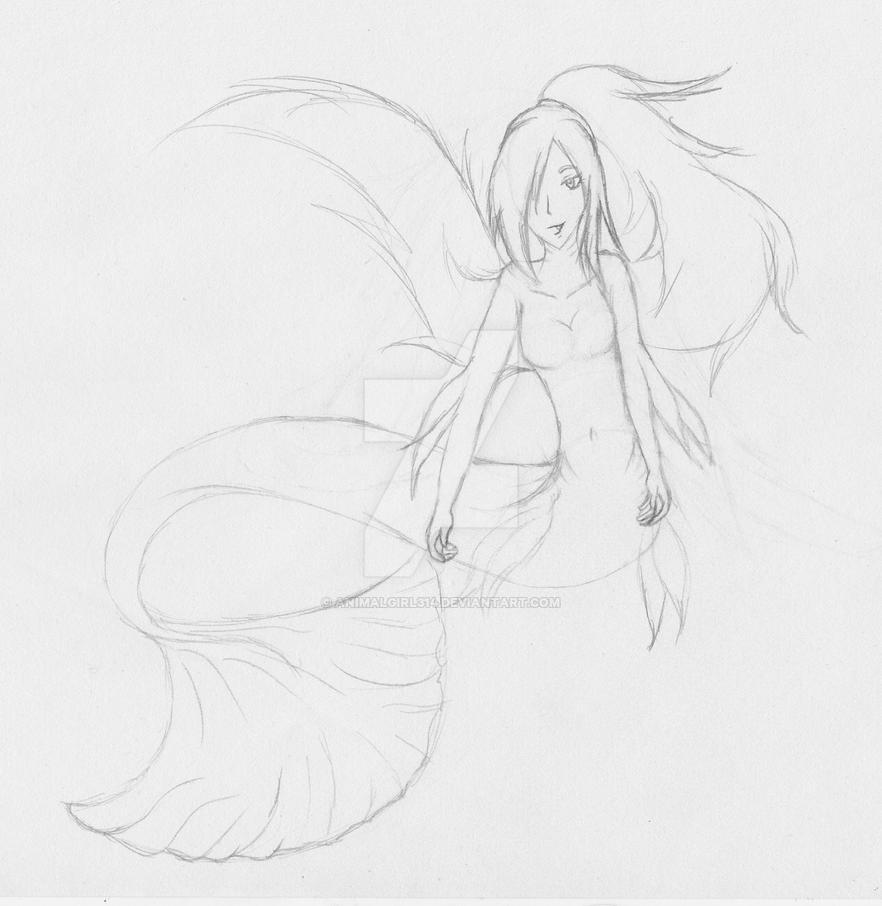 Mermaid sketch by animalgirl314