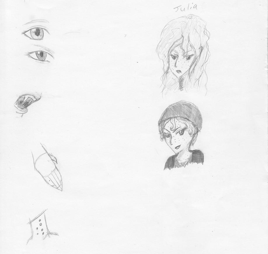 Julia sketches by animalgirl314