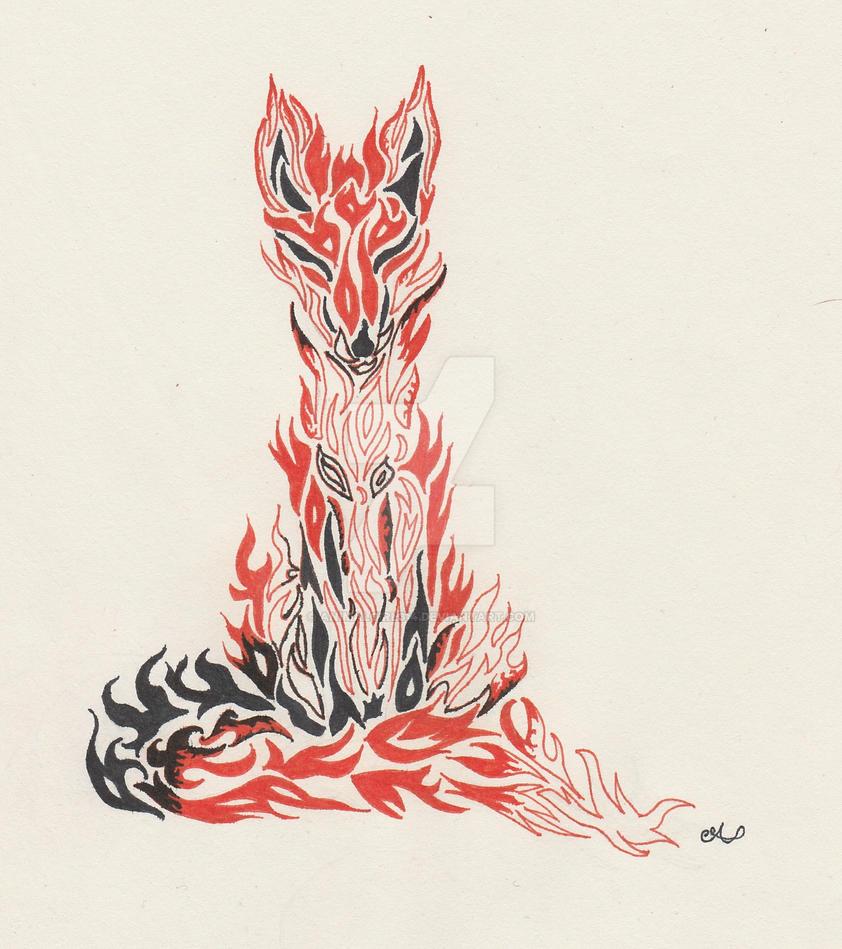 Fox Spirit Sitting Commission by animalgirl314