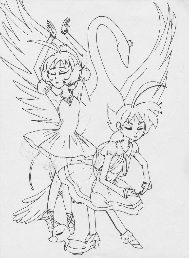 Princess Tutu: Duck (WIP Line Work) by animalgirl314