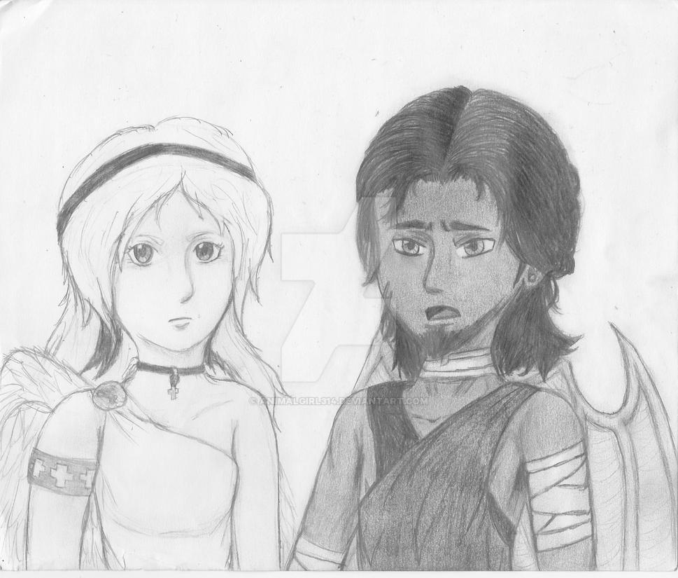 Saving Faith (Sketch) by animalgirl314