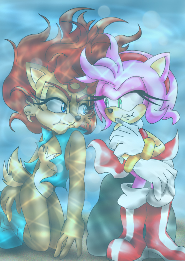 Sally and Amy by turquoistars.deviantart.com on