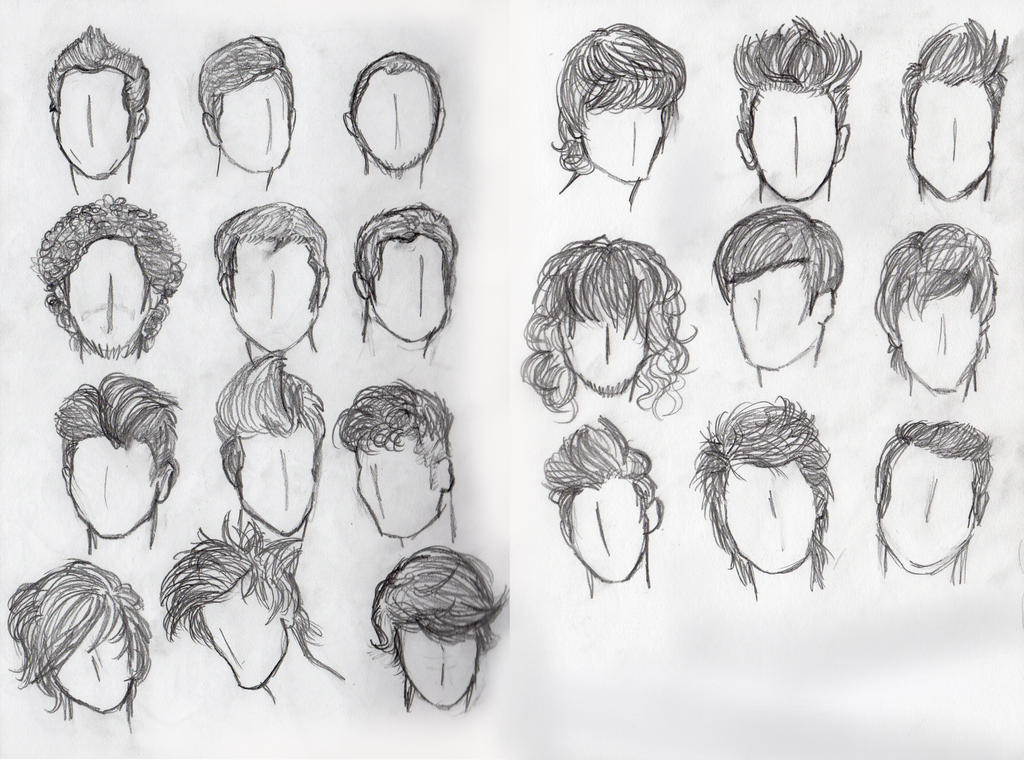 Hair Study Males By Moon Shyne On Deviantart