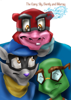 The Gang: Sly, Bentley and Murray by Moon-Shyne