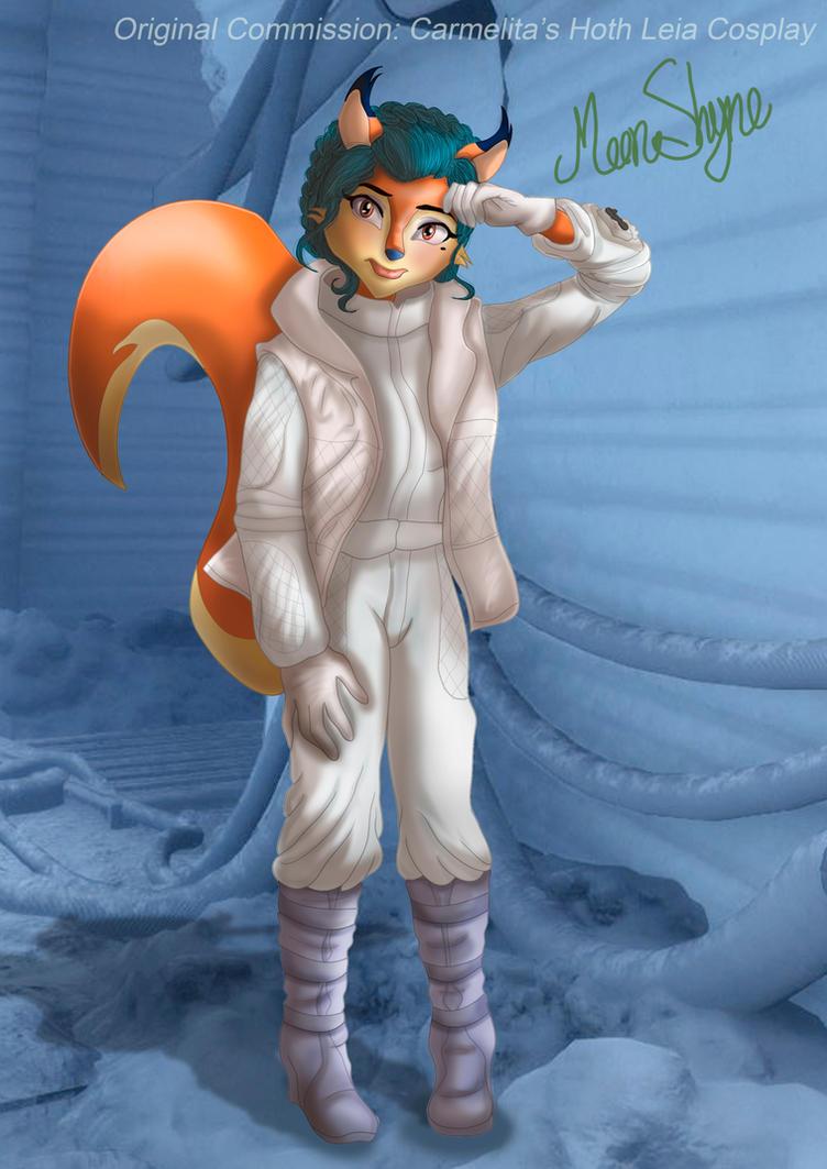 Commission: Carmelita's Hoth Leia Cosplay by Moon-Shyne