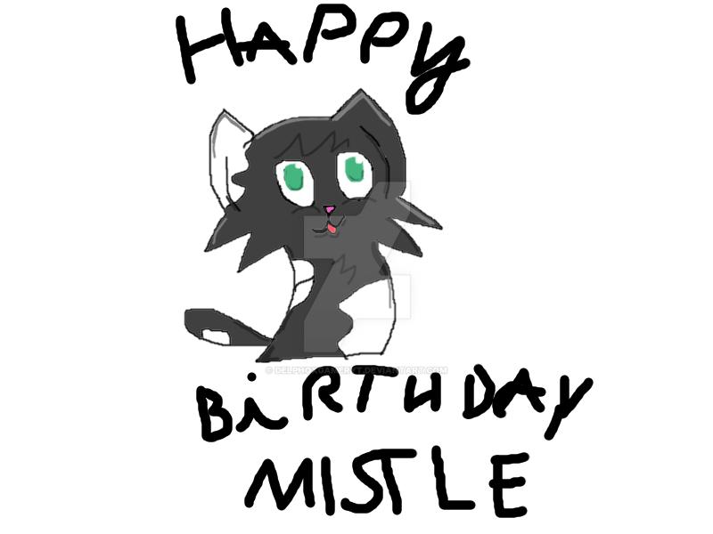 Mistlepaw's birthday by DelphoxGamerYT