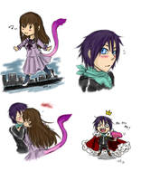 Noragami doodles by LadyVentuswill