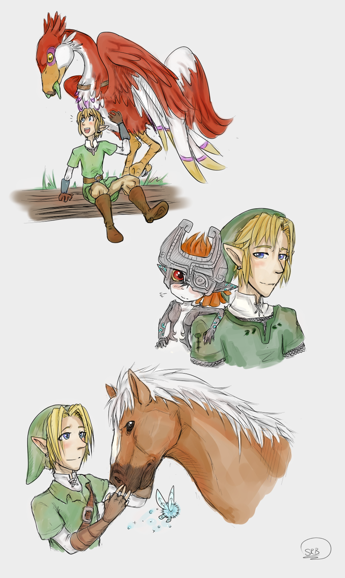 LOZ: Link and Companions by LadyVentuswill