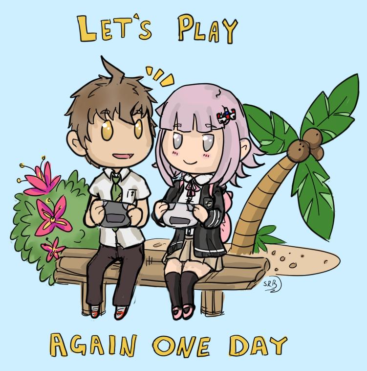 DanganRonpa Hinata and Chiaki by LadyVentuswill