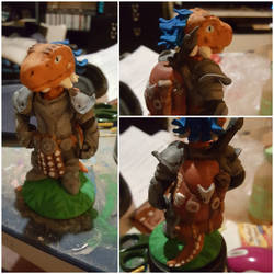 Argonian clay figure commission by LadyVentuswill