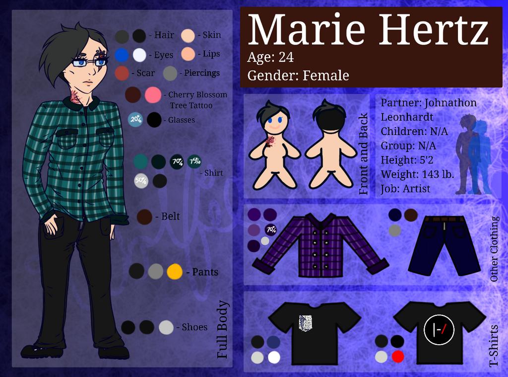 Marie Hertz Reference Sheet by iWolfieChan