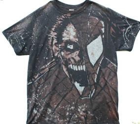 Zombie spidey shirt by BfstudiosLLC
