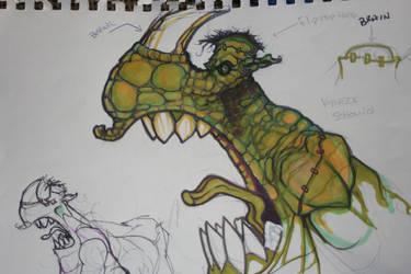 Rhinostein Monster Sketch by BfstudiosLLC