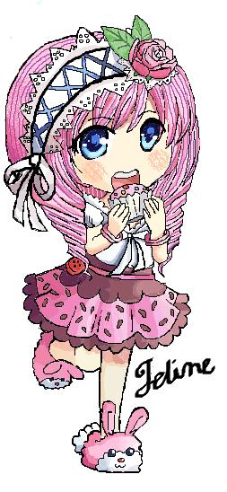 Cupcake Girl Drawing via. Microsoft Paint by ...
