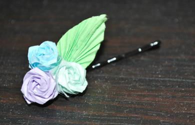 Origami Rose Hairpin