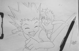 Gon n Killua by AgentVIKI