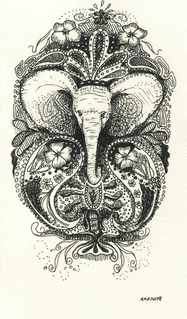 Elephant Line Drawing Tattoo : Elephant henna tattoo drawing by ashleighpopplewell on