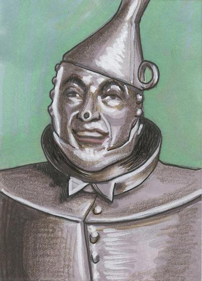 how to draw wizard of oz tin man