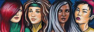 Marvel Ladies 4-Card Puzzle