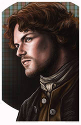 Outlander Jaime Fraser Portrait by AshleighPopplewell