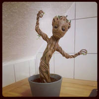 Baby Groot - He's finished. he's done.