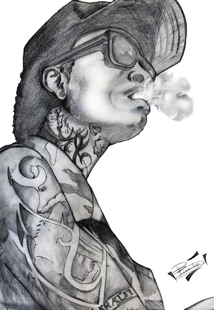 Wiz Khalifa Smoking Drawing