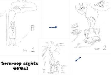 Swaroop sights UFOs...