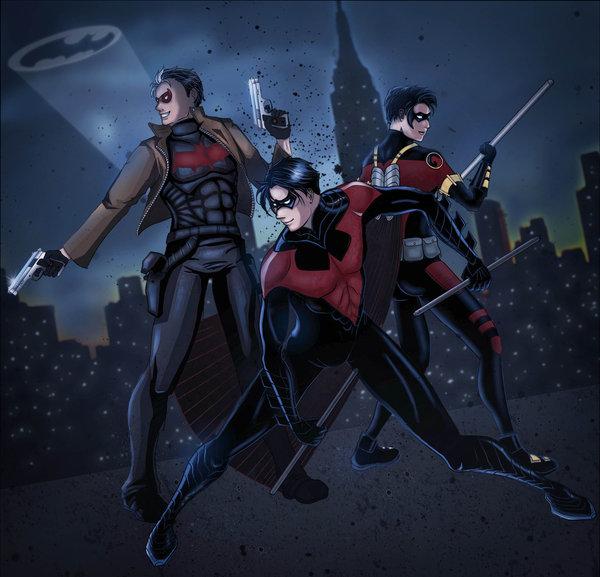 Bat Boys' Night Out by AlphaLunatic