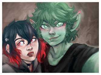 BeastBoy and Raven from Teen Titans 19.07.17 by shannathegirl