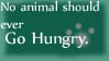 NO animal go Hungry STAMP by Aestivall