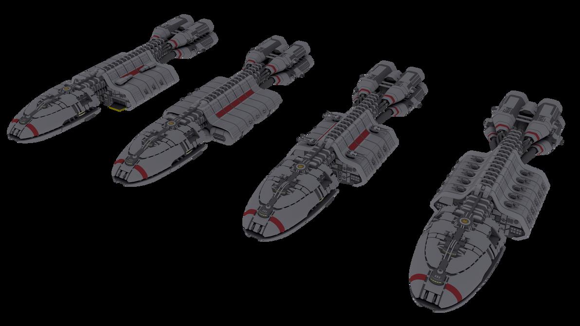Berzerk-class cruisers by NepsterCZ