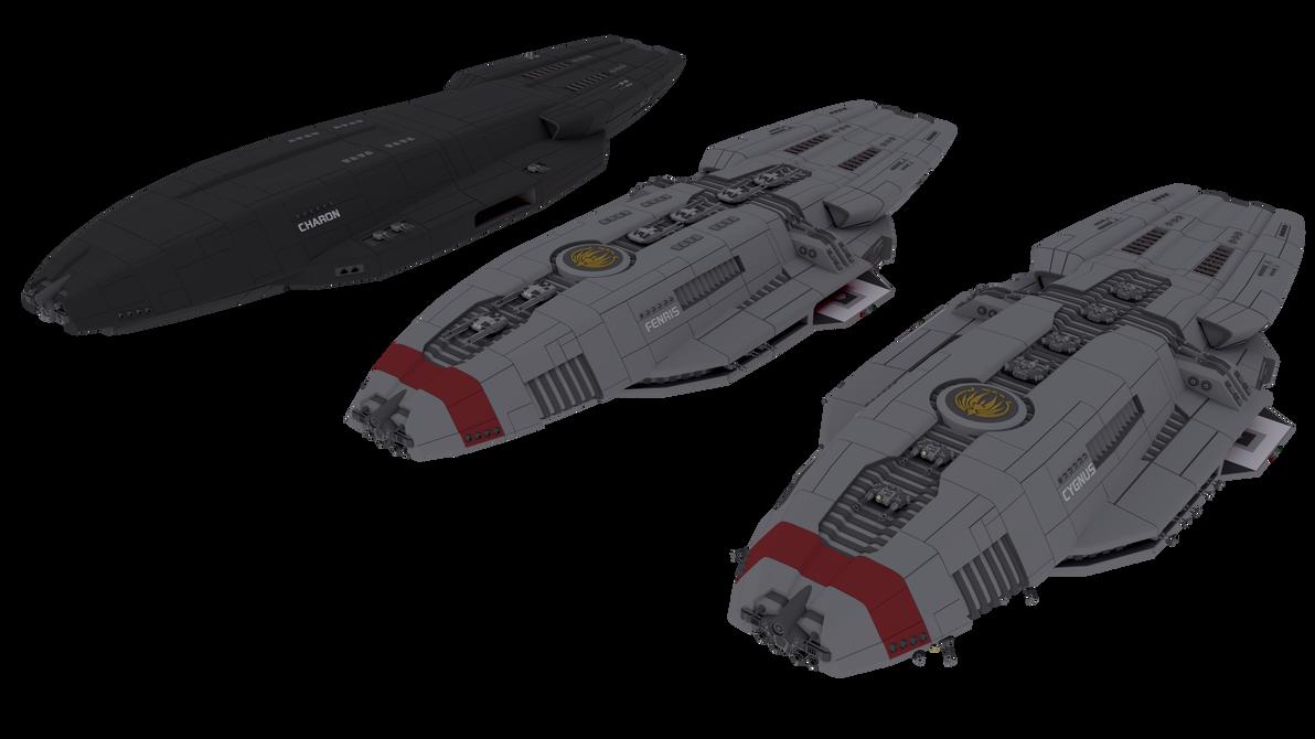 Cygnus-class destroyers by NepsterCZ