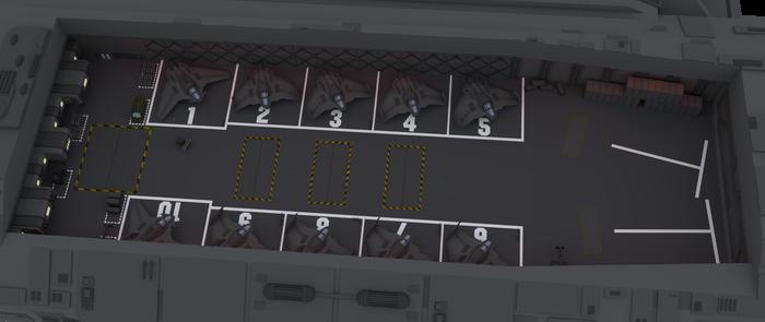 304-class battlecruiser Flight III hangar