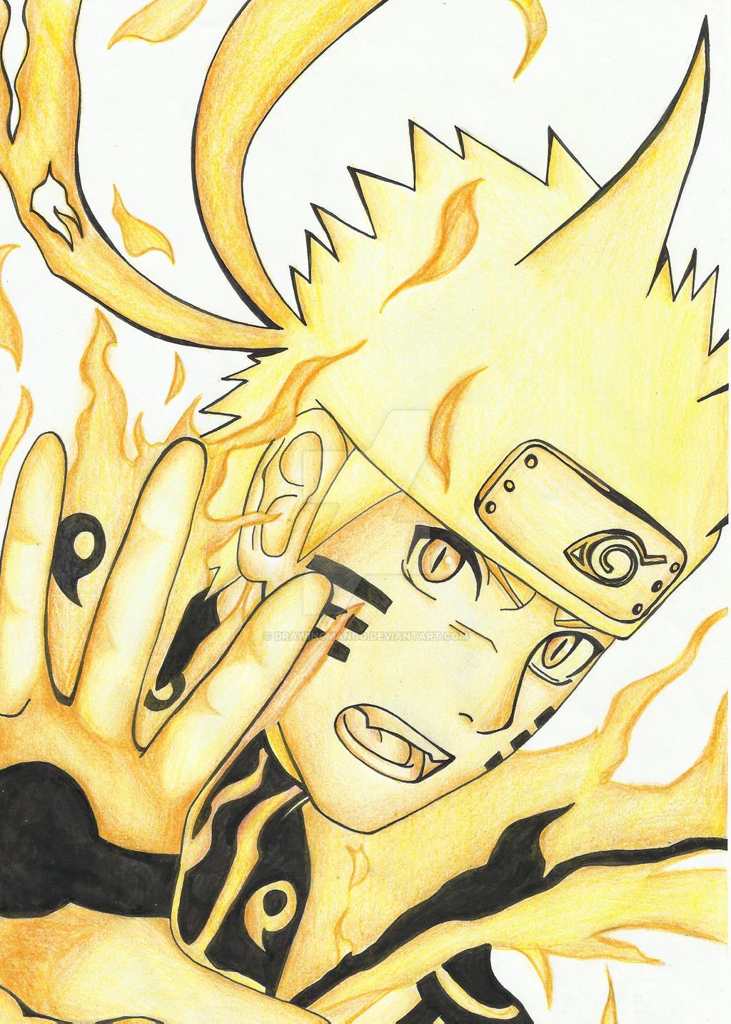 Naruto bijuu mode by Drawingmango on DeviantArt