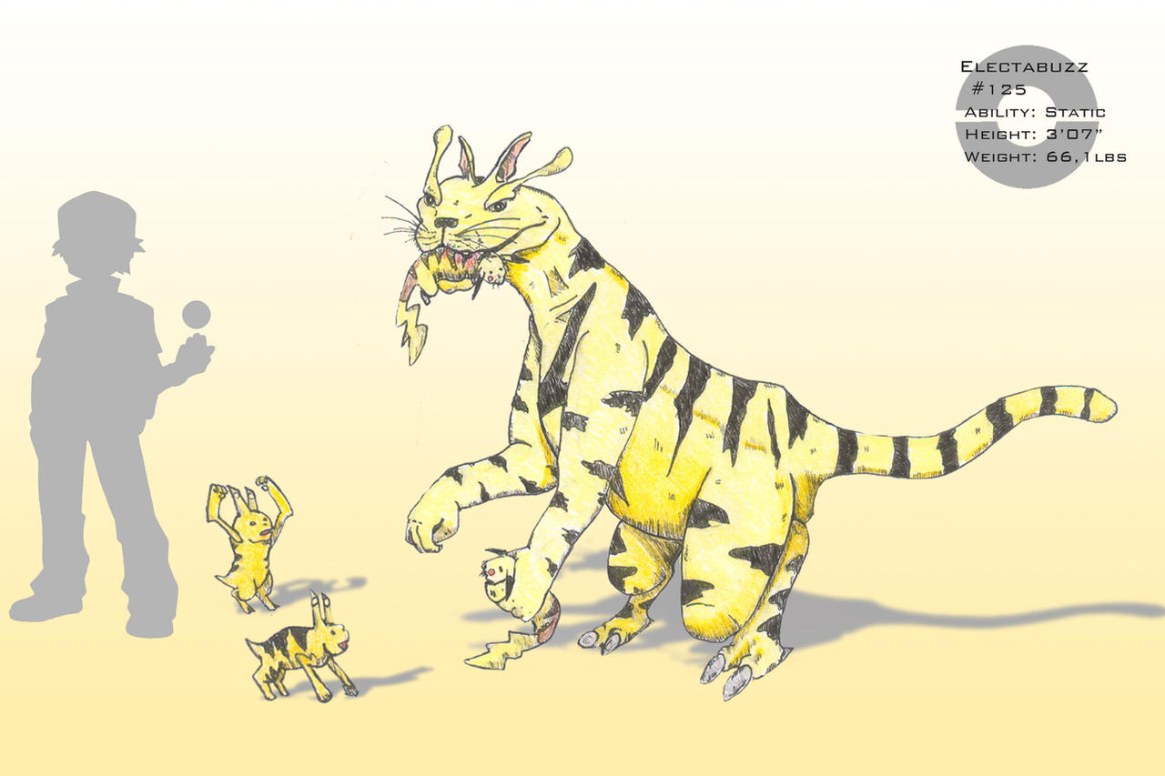 Electabuzz and Elekid by Fregatto